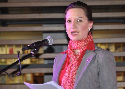02.Simone Emmert, Dozentin für Recht der Sozialarbeit, begrüßt die Gäste als Vertreterin der Theologischen Hochschule Friedensau