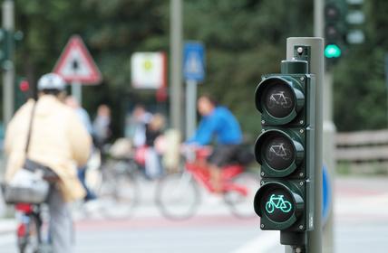 Fahrradampel Zeigt Grün Toll Ev
